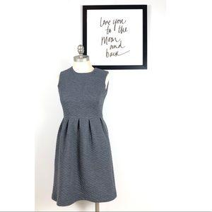 Ann Taylor dress 2 petite gray sleeveless sheath